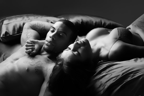 Boudoir Couple in Bed in Phoenix
